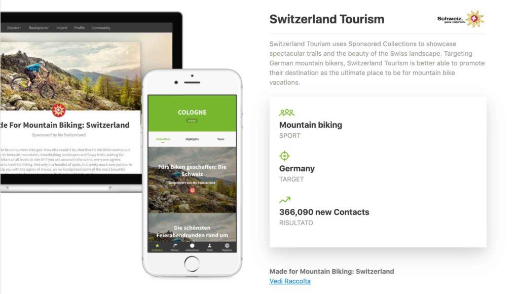 Esempio di Raccolta sponsorizzata: Switzerland Tourism.