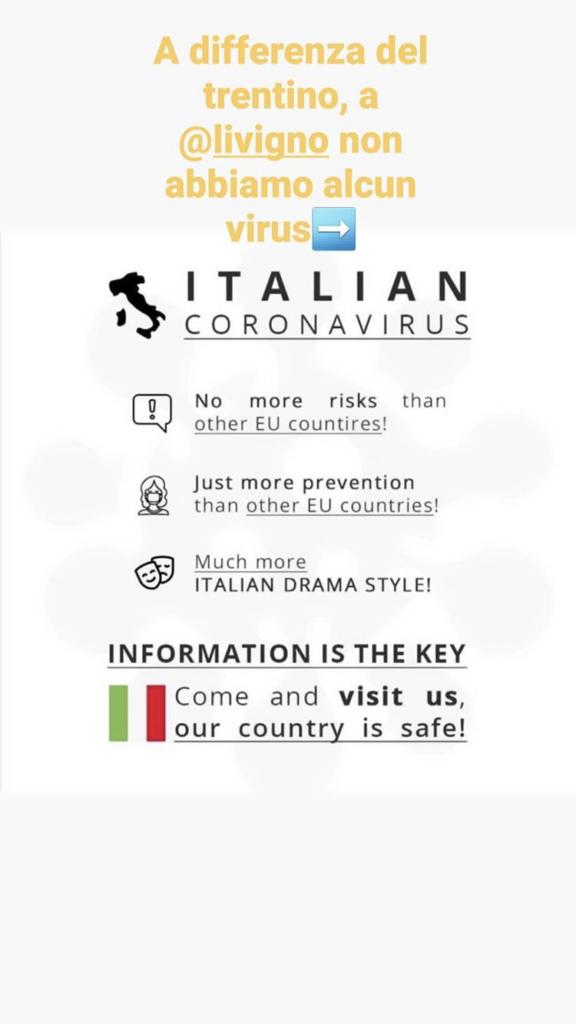 Post social Italian Coronavirus