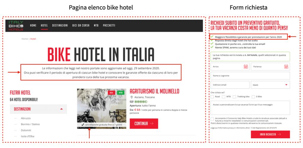 Adeguamento comunicazione Italy Bike Hotel nella nuova normalità